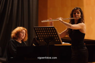 JULIA ESTEVEZ & RASA JAKUTYTE - FLUTE AND PIANO -  GENERATION 2000+5 - VIGO - SPAIN