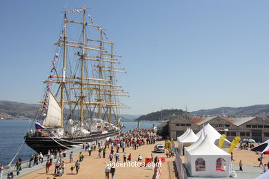 SHIPS IN VIGO - TALL SHIPS ATLANTIC CHALLENGE 2009 - VIGO, SPAIN. CUTTY SARK. 2009 -