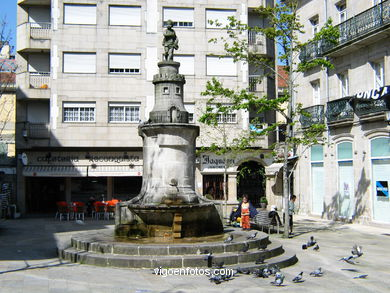 NEPTUNE FOUNTAIN AND ANGEL'S FOUNTAIN. SCULPTURES AND SCULPTORS. VIGO