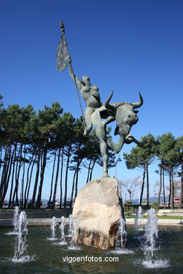 MONUMENT TO EUROPE. SCULPTURES AND SCULPTORS. VIGO