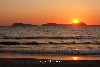 SUNSET & SUNRISE. VIGO BAY. SEA AND LANDSCAPES. SAMIL