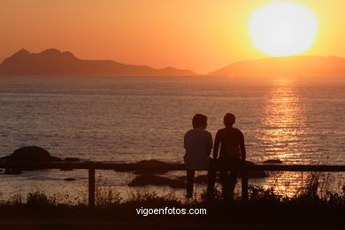 SUNSET & SUNRISE. VIGO BAY. SEA AND LANDSCAPES. SPAIN