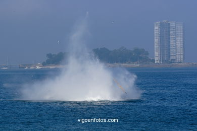 AIR ACCIDENT. HELICOPTER. AIRSHOW 2006. VIGO (SPAIN)