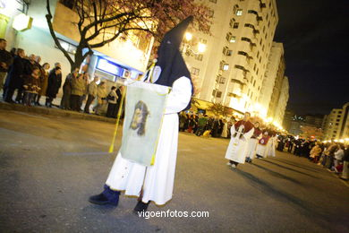 Procession of easter 2008. Virgen de la Soledad