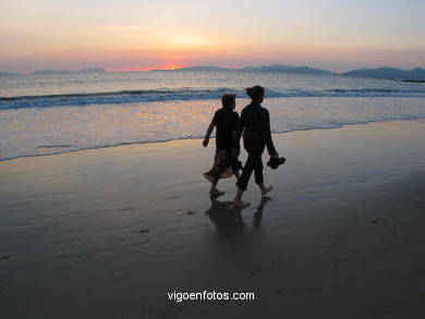 SUNSET IN SAMIL BEACH - VIGO - SPAIN