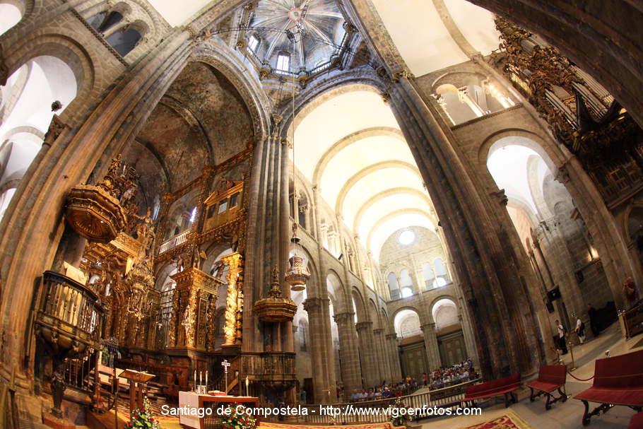 Pin fotos botafumeiro interior catedral de santiago - Interior santiago de compostela ...